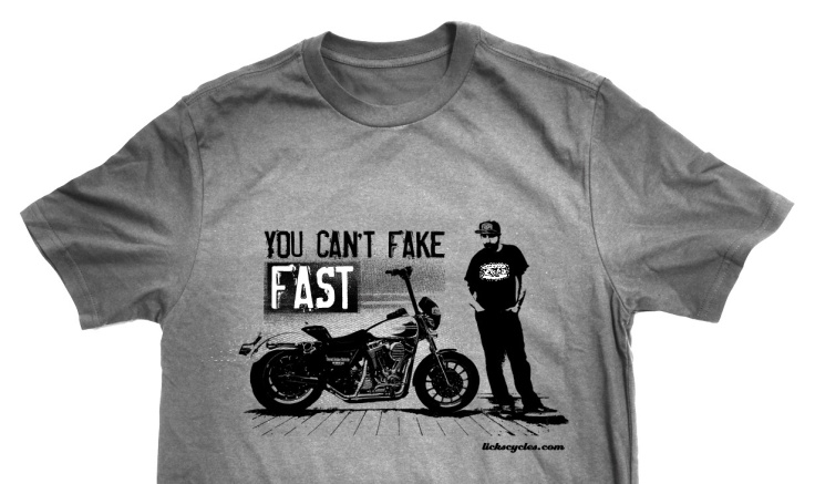 Licks Cycles - Can't Fake Fast T-shirt